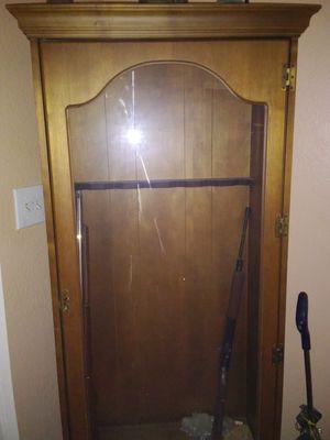 Antique Glass Door Rifle/Gun Cabinet for Sale in Phoenix, AZ