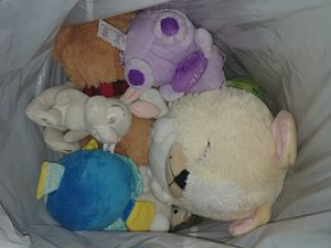 Bag of plushies and a few toys. for Sale in Orange, CA