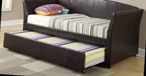 CLOSEOUTS LIQUIDATION SALE BRAND NEW TWIN SIZE DAY BED FRAME WITH TRUNDLE ADD MATTRESS ALL NEW FURNITURE PDX9221 for Sale in Pomona,  CA