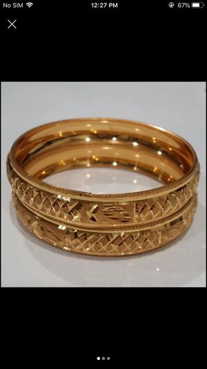 24k gold plated Indian style bangles bracelet set for Sale in Silver Spring, MD