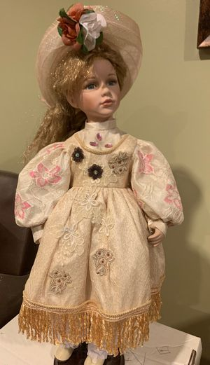 Antique doll with stand for Sale in Sterling Heights, MI