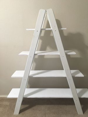 Solid wood tier ladder shelf for Sale in San Antonio, TX