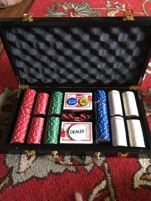 Poker game caboodle hard wood case. for Sale in Fort Lauderdale, FL