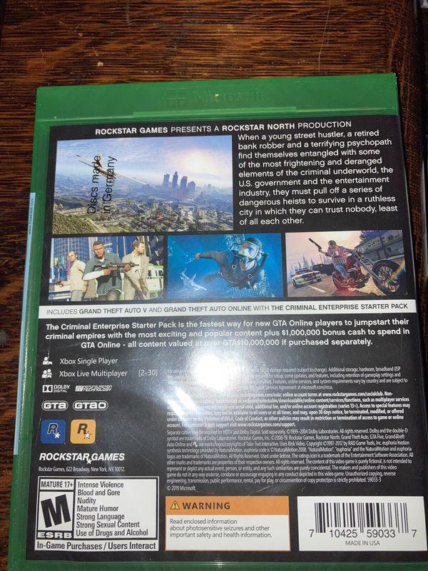 GTA V Premium edition: Xbox one