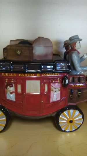 Ceramics stage coach 12'' long cookie jar for Sale in Mesa, AZ