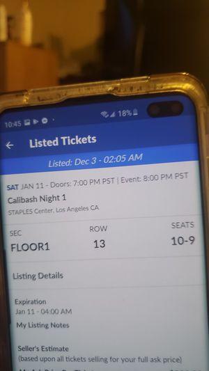 Tickets para calubash for Sale in Los Angeles, CA