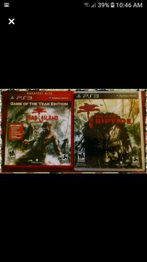 (2) Dead Island PS3 games for Sale in Wichita, KS