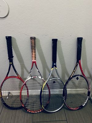 Wilson tennis rackets for sale for Sale in Dallas, TX