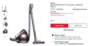 Dyson big ball multi floor pro canister for Sale in Mesa, AZ