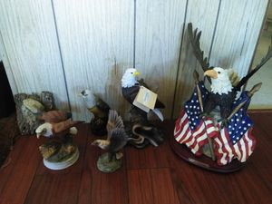 Eagles, eagles and eagles. Statue collection for Sale in Perris, CA