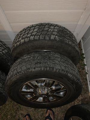Ford F-150 tires white original rims almos like new asking 550. for Sale in PT ORANGE, FL