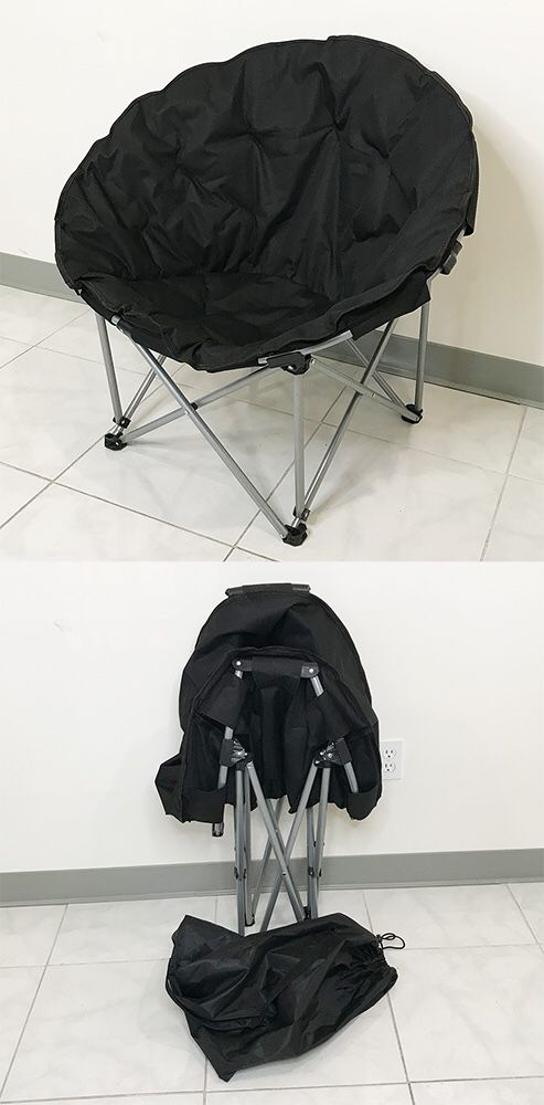 "New $30 Large 34x31x24"" Folding Chair Round Outdoor Camping Beach Padded Seat w/ Carry Bag (2 Color)"