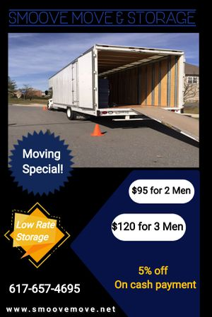 Moving Special for Sale in Quincy, MA