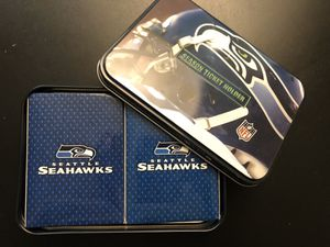 Seattle Seahawks Season ticket holder and two set playing card for Sale in Kent, WA