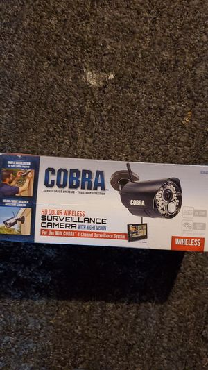 Cobra surveillance camera HD color wireless w/ night vision for Sale in Kennewick, WA