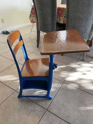 Solid wood school desk - super sturdy! for Sale in El Cajon, CA