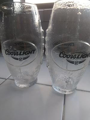 Coors Light Football Shaped Drinking Glasses for Sale in Santa Fe Springs, CA