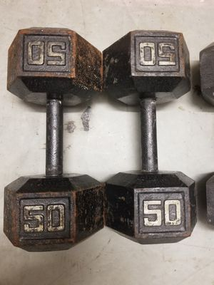 Dumbbell Set 100lbs 50lbs - EXCELLENT SET - Huge Dumbbells for Sale in Mansfield, TX