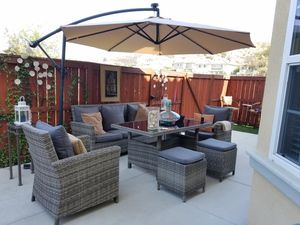New lounge & dining set 6PC outdoor rattan wicker lawn patio furniture for Sale in Chula Vista, CA