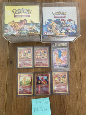Pokemon XY Evolutions Box, Holo Charizards and Reverse Zard and Darkness for Sale in Irvine, CA