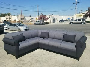 NEW 7X9FT ELITE CHARCOAL FABRIC SECTIONAL COUCHES for Sale in Signal Hill, CA