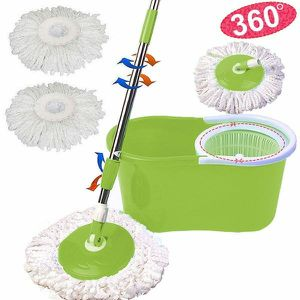 New in Box Spin Mop 360 Rotating Head Magic Floor Mop with 2 Microfiber Heads for Sale in Pico Rivera, CA