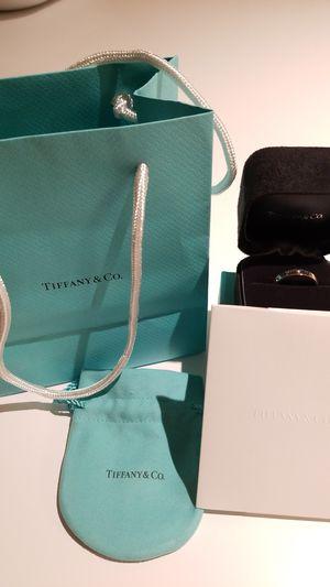 Tiffany & Co 18k White Gold Diamond Atlas Ring Size 8.5 for Sale in Centreville, VA