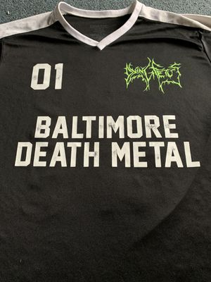 DYING FETUS BALTIMORE DEATH METAL JERSEY SHIT L large vintage rare carcass cannibal corpse the faceless cattle decapitation for Sale in Baltimore, MD