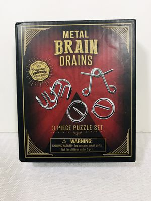 CVS 3-pcs Metal Brain Drains Wire Puzzle Test Mind Logic Game for Sale in Pawtucket, RI