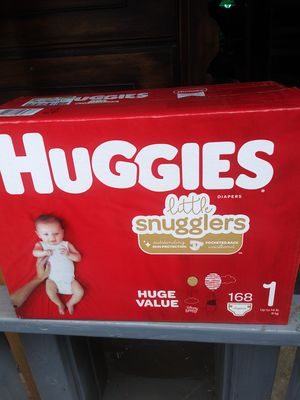 Huggies lil snugglers size 1 /168 count for Sale in Gresham, OR