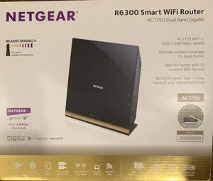 NETGEAR R6300 Smart WiFi Router AC1750 Dual Band Gigabit for Sale in King of Prussia, PA