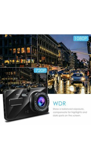 G-sensor Car Camera Dual Dash Cam Front and Rear Night Vision 140 170 Wide Angle for Sale in Los Angeles, CA