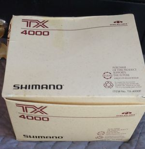 Shimano TX4000 Open Face Spinning Fishing Reel 8-12lb Line for Sale in Surprise, AZ