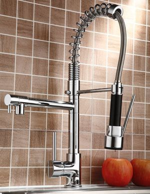 Faucet Swivel Spout Single Handle Sink Pull Down Spray Mixer Tap for Sale in Norcross, GA