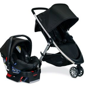 Britax B-Lively Stroller & B-Safe 35 Infant Car Seat Travel System Raven for Sale in Huntington Beach, CA