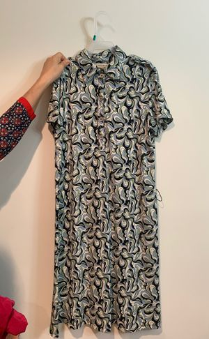 Black, blue and white printed short sleeve dress for Sale in Rockville, MD