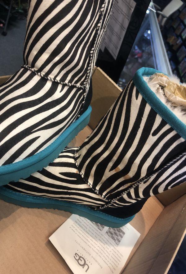 UGG zebra hair boots sz 6. Too cute