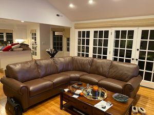 Custom Leather Sectional Couch/Sofa for Sale in West Menlo Park, CA