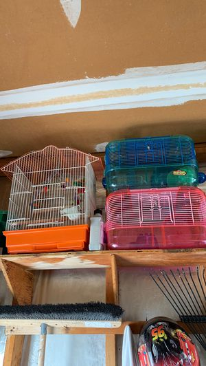 Hamster and bird cage $8 or best offer each for Sale in St. Louis, MO