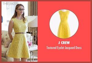 J crew yellow jacquard eyelet dress for Sale in Herndon, VA