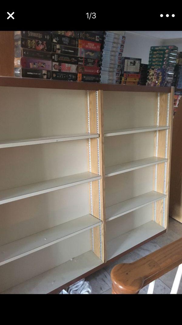 Free bookshelf vhs dvd or Misc