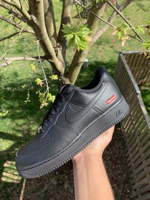 "Supreme x Nike Air Force 1 ""Black"" Box Logo for Sale in Ashburn, VA"