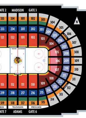 Chicago Blackhawks (4) Tickets - Section 106 Row 19 for Sale in Flossmoor, IL