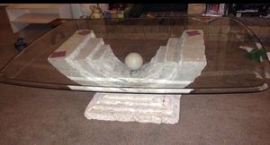 Heavy glass coffee table for Sale in Arlington, TX
