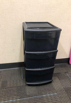 Black sterilite plastic drawers for Sale in San Diego, CA