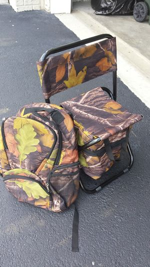 Camouflage backpack and chair (brand new) for Sale in Columbus, OH