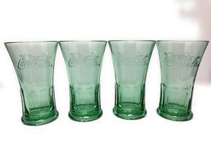 Coca-Cola Collectible Glass Cups - Set of 4 for Sale in Miami Beach, FL