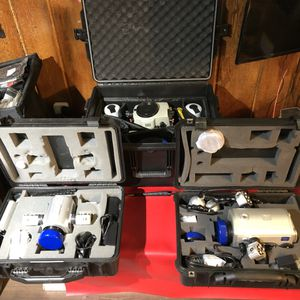 SUBAL U/W housing for Canon 5DII with Canon FDII and 2 LIGHT & MOTION BLUEFIN HOUSING All come with pelican cases for Sale in Fort Lee, NJ
