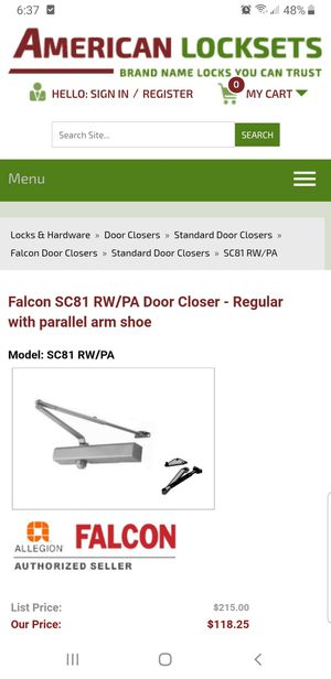 New! Falcon Door closer for Sale in Austin, TX