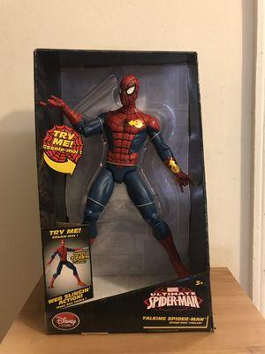 "New 14"" ultimate spider man talking figure for Sale in Arlington, VA"